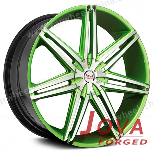 Forged wheels cheap colored machined face 1 piece