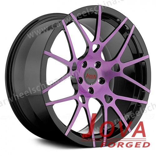Colored rims forged black and purple factory sale