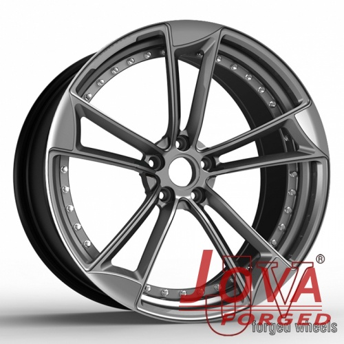 Black and silver rims forged for audi aftermarket wheels
