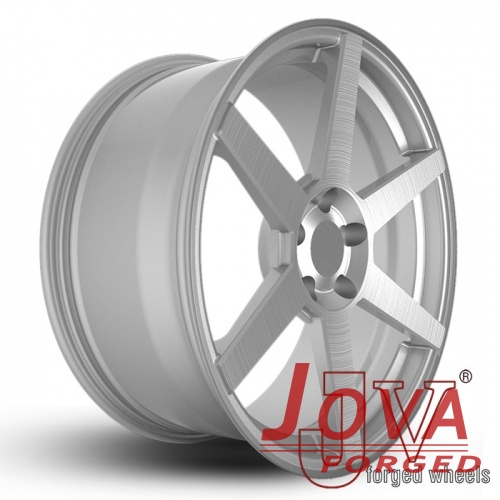 brushed aluminum rims silver forged for aftermarket