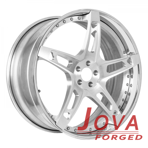 2-piece gloss silver forged mercedes rims oem