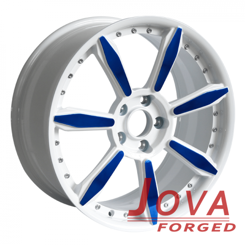 new bmw wheels oem gloss white blue