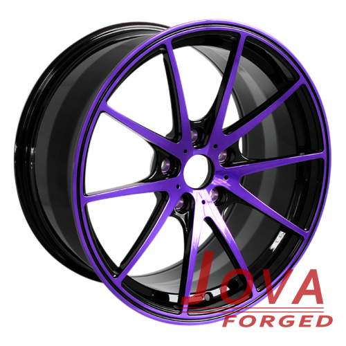 BMW oem wheels colored staggered deep concave