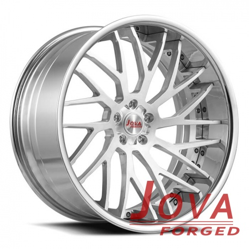 mercedes amg rims style gloss silver two piece concave