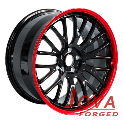 Custom black and red wheels for truck deep dish