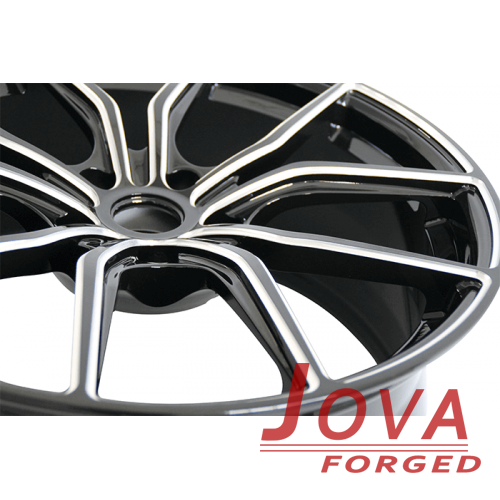 19 audi wheels oem concave forged black white