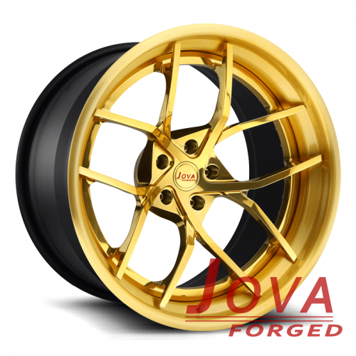 Custom three piece wheels forged rims with rivets