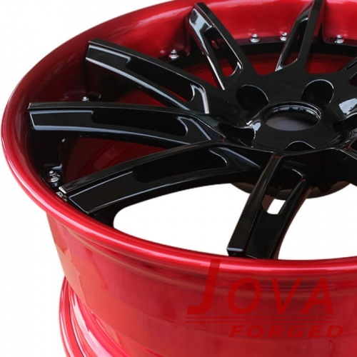 Custom automotive rims and wheels with rivets 2-piece