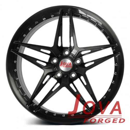 custom forged alloy wheels star spoke with rivets
