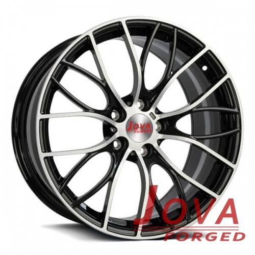 4x100 forged wheels black aluminum rims for cars