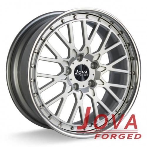 custom platinum rims silver wheels staggered spoke
