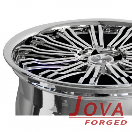 custom polished aluminum rims mulit spoke forged