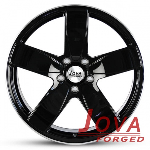 custom 5 spoke black rims wheels forged 6061 aluminum