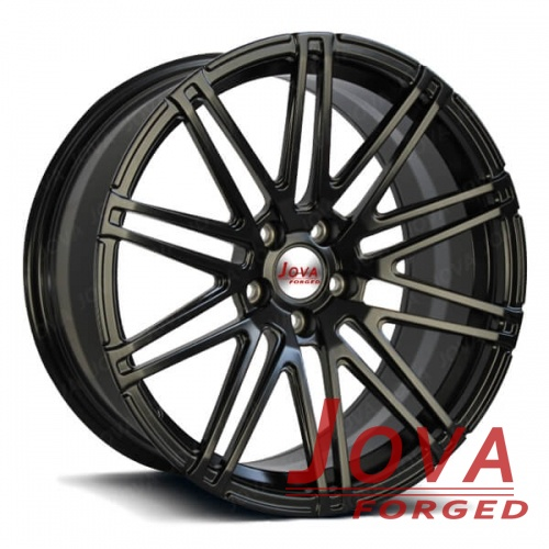 custom alloy wheels black monoblock forged staggered