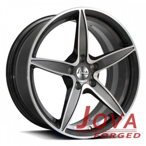 5 spoke deep concave wheels machine forged rims