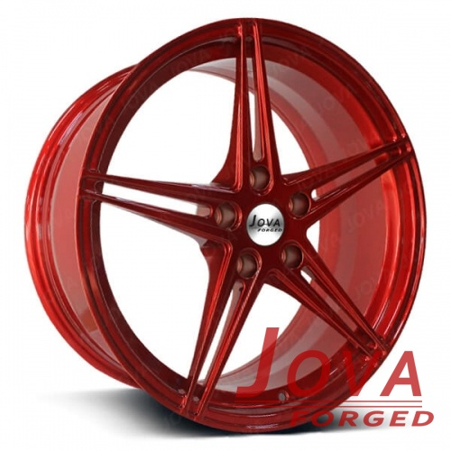 car sport rim red 18 inch monoblock forged