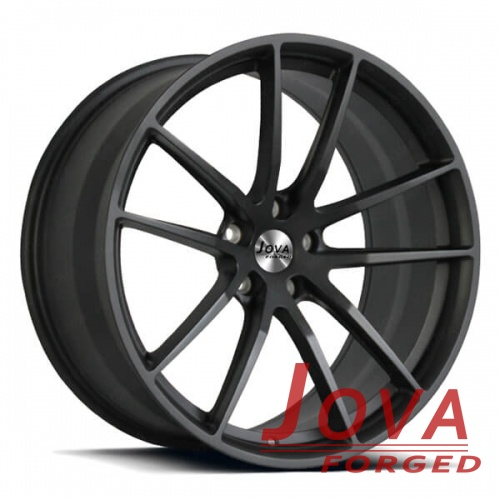 matte black forged rims concave well balanced