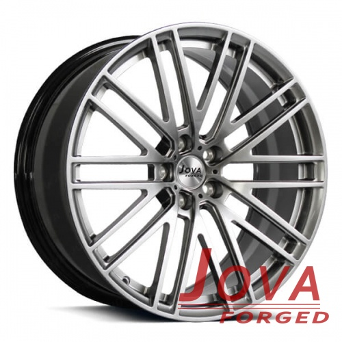 custom painted car rims black and silver monoblock