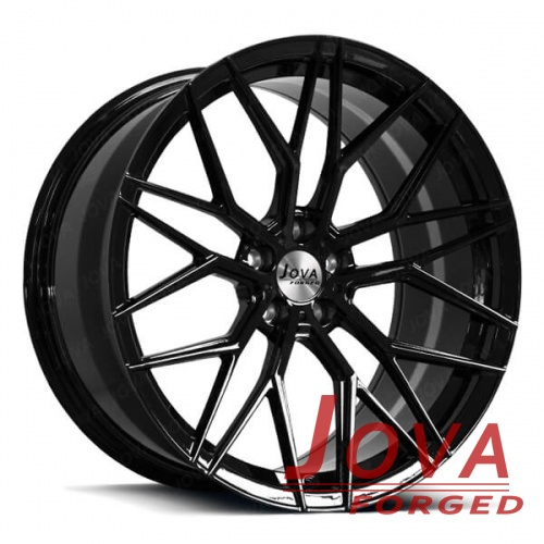 custom black rims for sports cars monoblock forged