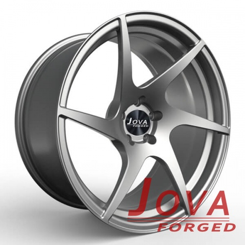 6 spoke silver rims forged concave wheels