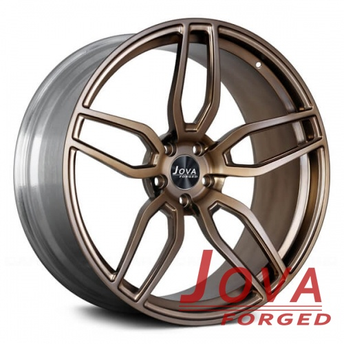 aftermarket automotive wheels silver and bronze