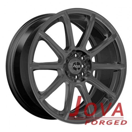 custom black automotive wheels monoblock forged