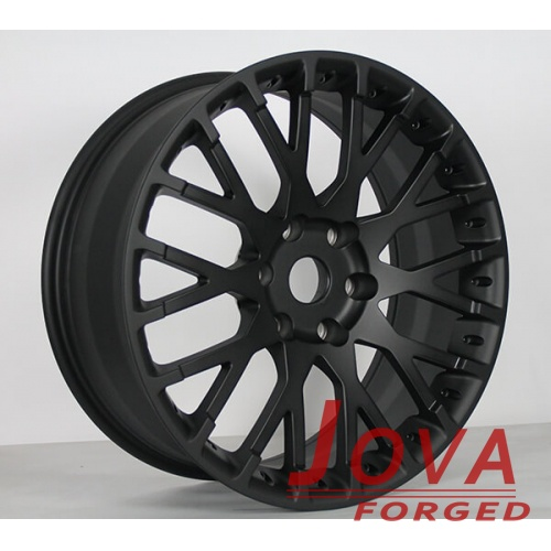 matte black wheels monoblock forged 6 hole