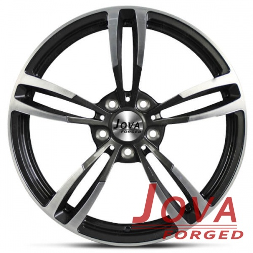 one piece concave wheels black machined face