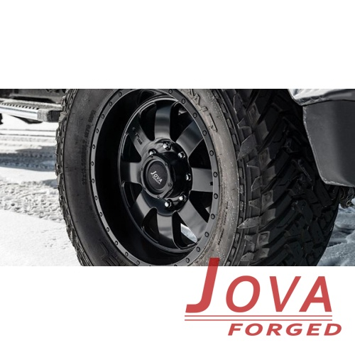 black off road wheels H type one piece forged