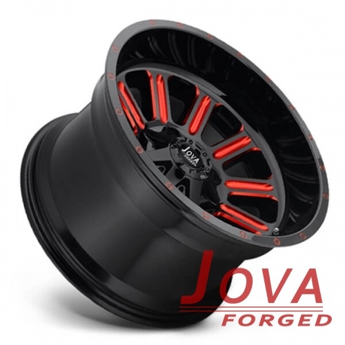 off road beadlock wheels H type one piece forged