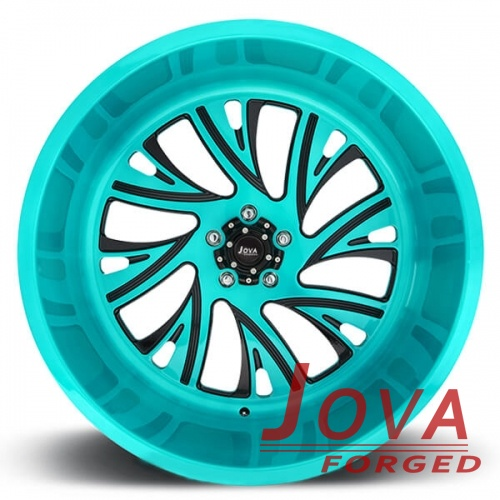 forged aluminum off road wheels blue H monoblock