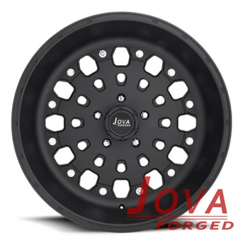 deep dish truck rims matte black monoblock forged