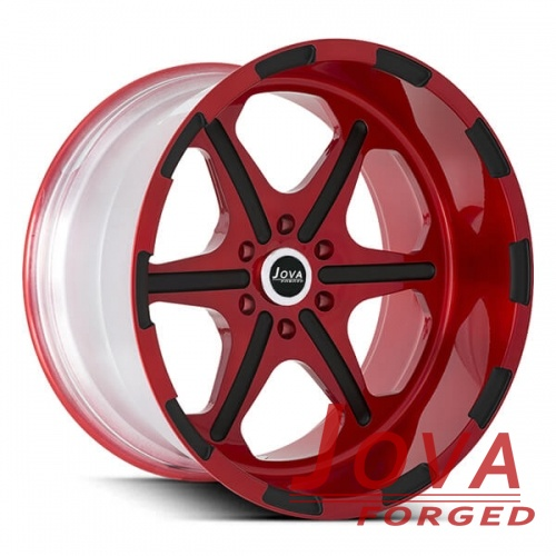 deep dish truck rims 6 lug red and black