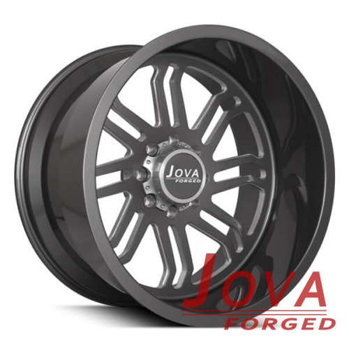 22x14 off road wheels rims black forged