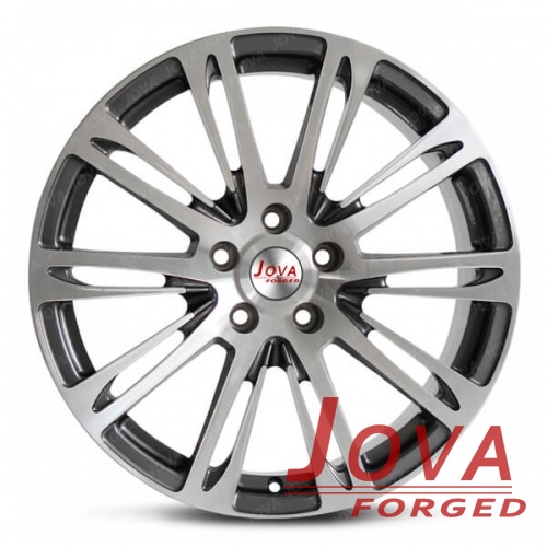 black automotive wheels monoblock forged machined face