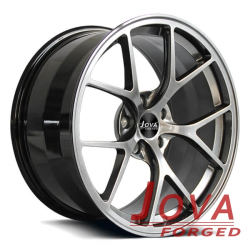 forged concave rims 5 lug black and grey