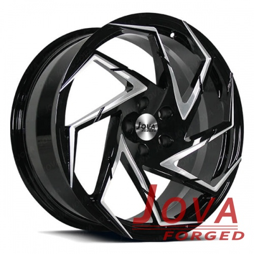 custom wheels forged black rim with milled windows