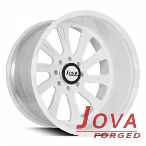 White deep dish truck rims 10 spoke 8 hole