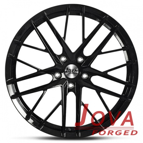 black bmw rims staggered spoke monoblock forged