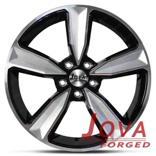custom audi wheels black brushed 5 spoke