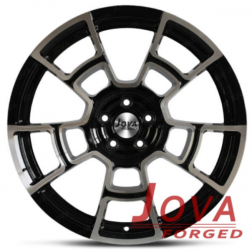 20 inch staggered wheels black machine face