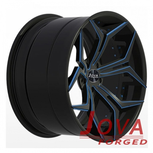 2 piece concave wheels black and blue