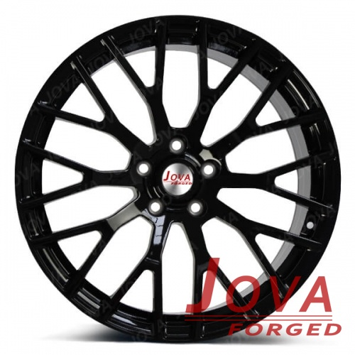 gloss black mustang wheels forged staggered spoke