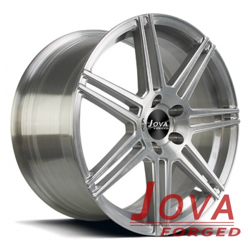 brushed finish wheels rims monoblock forged silver