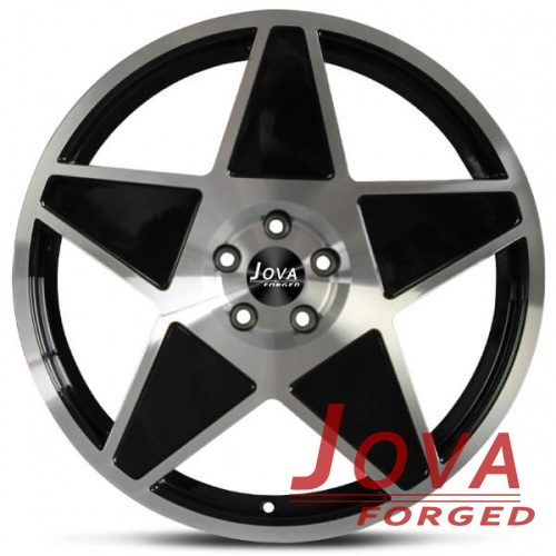 5 star mustang wheels black machine spoke