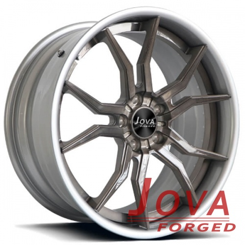 brushed wheels silver and grey 2pc forged