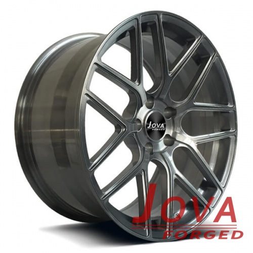 bespoke forged alloy wheels transprant grey brushed