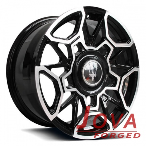black cadillac rims 18 inch machine face