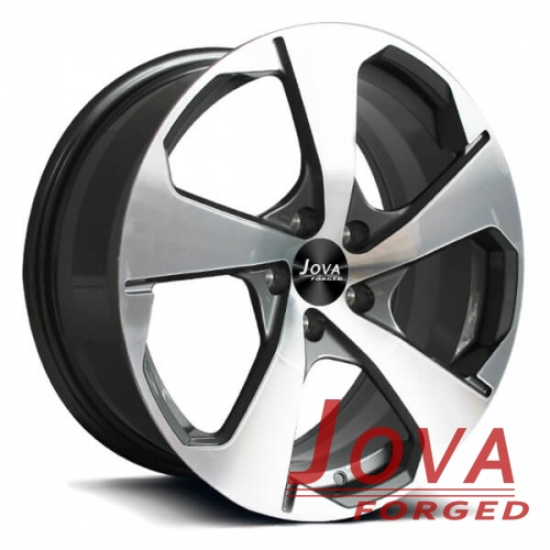 custom car wheels rims 5 spoke grey machined