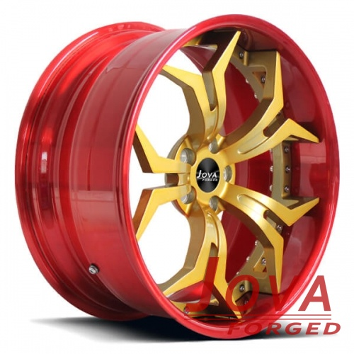 custom racing wheels aluminum alloy 2 piece forged
